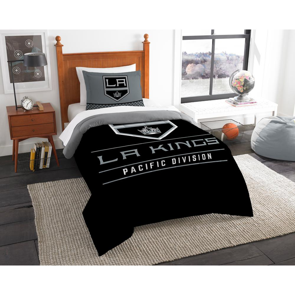 LA Kings Draft 2-Piece Multi-Color Polyester Twin Comforter Set