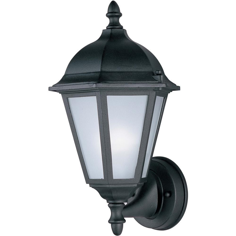 Westlake 8 in. W 1-Light Black Outdoor Wall Lantern Sconce