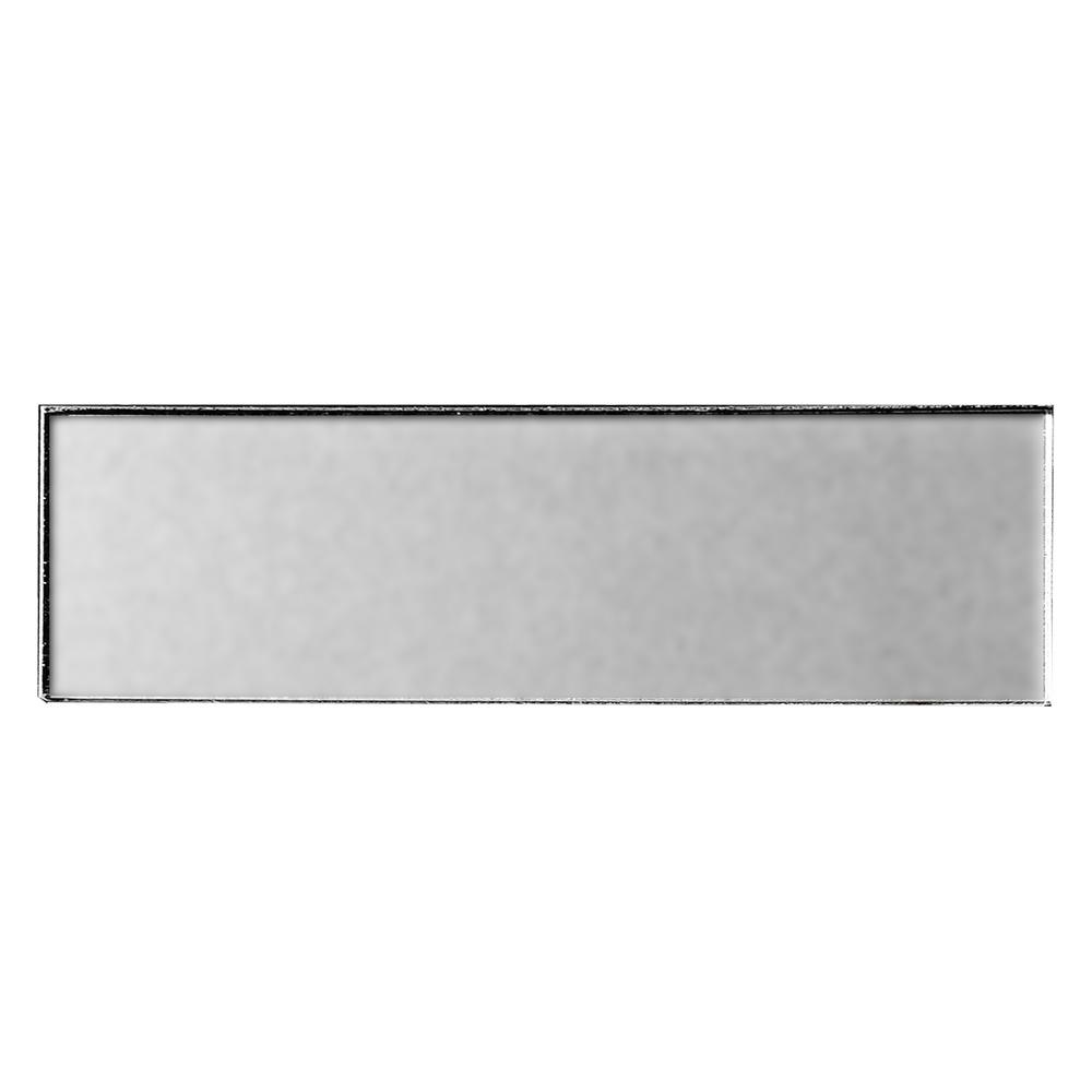 3 in. x 12 in. Secret Dimensions Silver Glass Matte Peel
