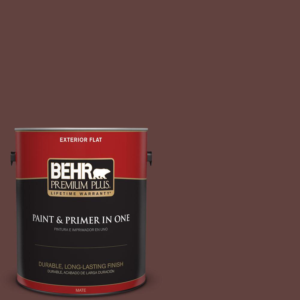 BEHR Premium Plus 1-gal. #PMD-62 Black Plum Flat Exterior Paint
