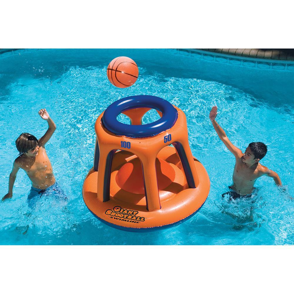 48 in. Orange Giant Inflatable Shootball