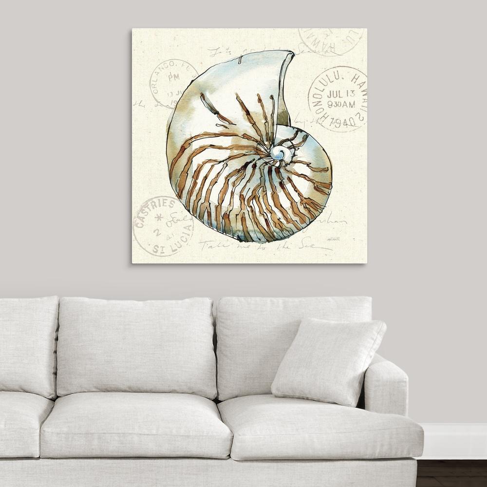 ''Coastal Breeze V'' by Anne Tavoletti Canvas Wall Art
