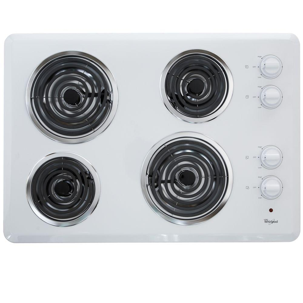 Coil Electric Cooktop In White With 4 Elements