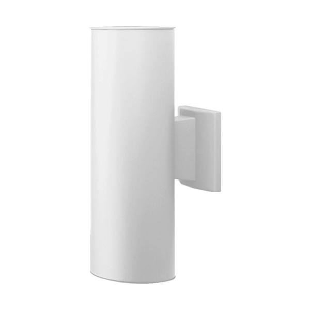 75-Watt 2-Light White Outdoor Wall Lantern Sconce Column Light