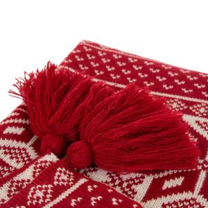 Christmas Throw Blanket.Glitzhome 60 In H Knitted Christmas Throw Blanket With