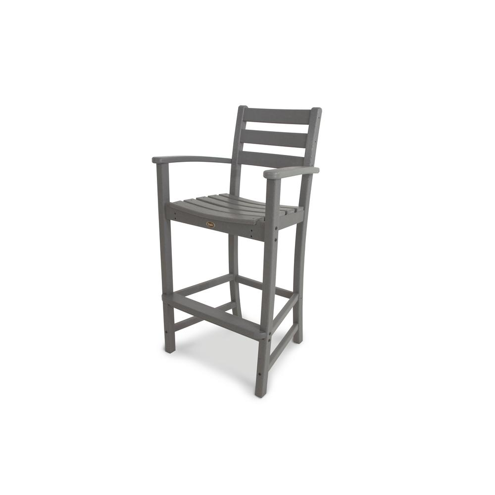 Outstanding Trex Outdoor Furniture Monterey Bay Stepping Stone Plastic Outdoor Patio Bar Arm Chair Andrewgaddart Wooden Chair Designs For Living Room Andrewgaddartcom