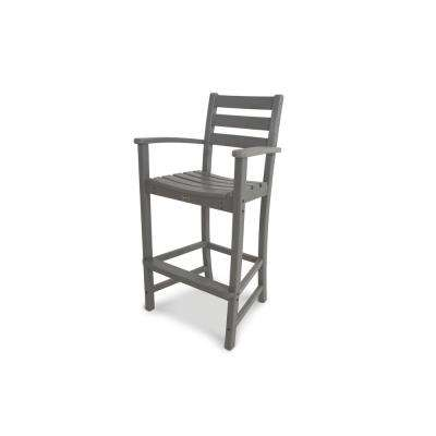 Monterey Bay Stepping Stone Plastic Outdoor Patio Bar Arm Chair