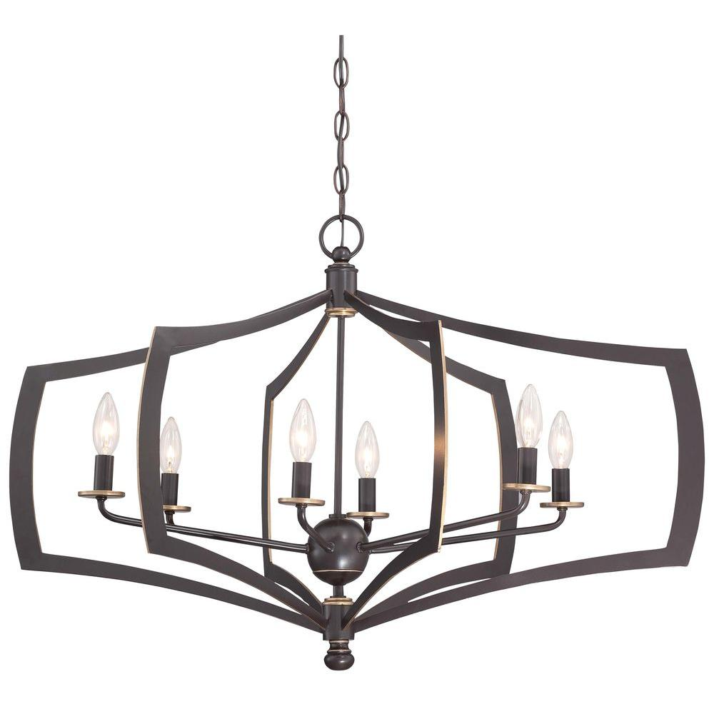 Minka lavery middletown 6 light downtown bronze chandelier