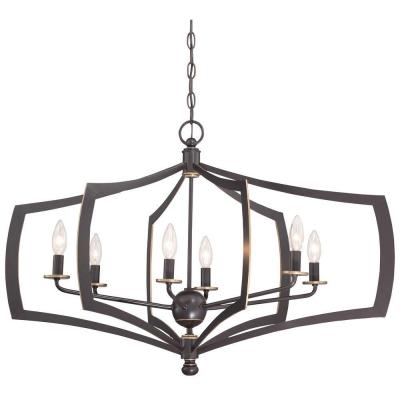 Middletown 6-Light Downtown Bronze Chandelier