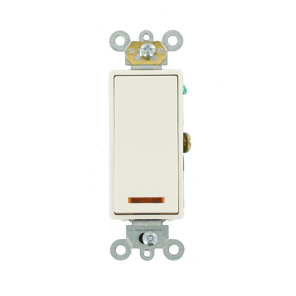 Leviton 20 Amp Decora Plus Commercial Grade Single Pole Lighted ...
