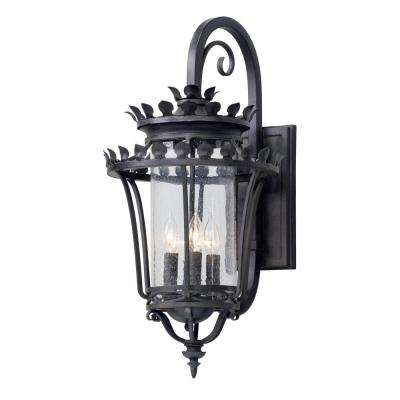 Greystone 4-Light Forged Iron Outdoor Wall Lantern Sconce