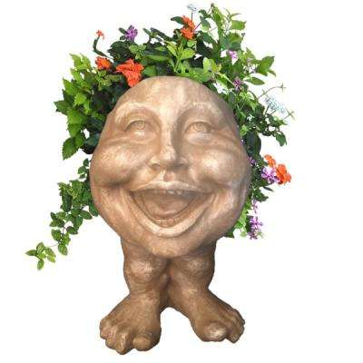 16 in. Stone Wash Aunt Minnie the Muggly Statue Face Planter Holds 7 in. Pot