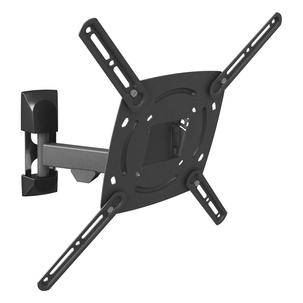Barkan Full Motion Flat/Curved Panel Single Arm TV Wall Mount for