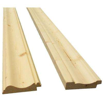 11/16 in. x 2-11/16 in. x 96 in. Knotty Pine Bead Board Trim Kit (3-Pack per Box)