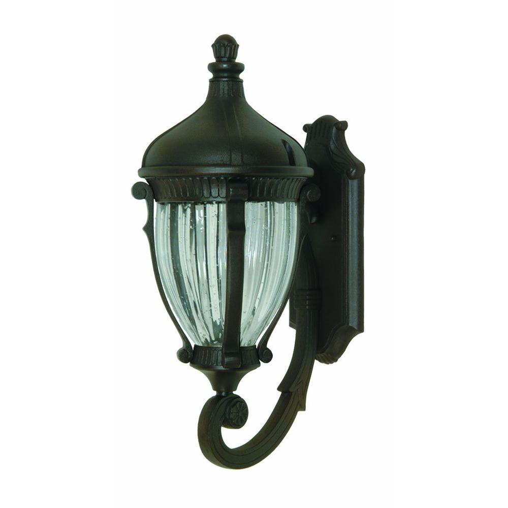 ARTCRAFT Kahley 3-Light Oil Rubbed Bronze Outdoor Wall Lantern Sconce
