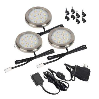 LED Silver Ultra Thin Accent Light (3-Pack)