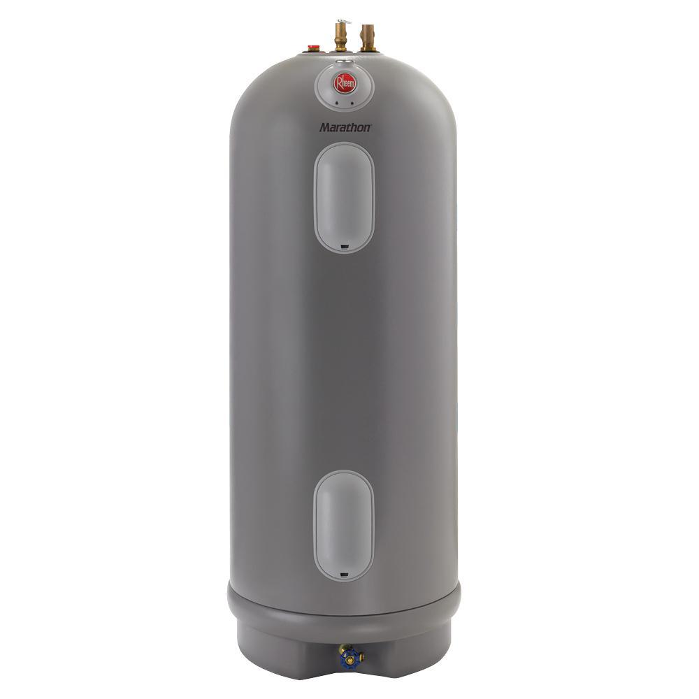 Marathon 50 Gal. Tall 4500/4500-Watt Elements Non Metallic Lifetime Electric Tank Water Heater