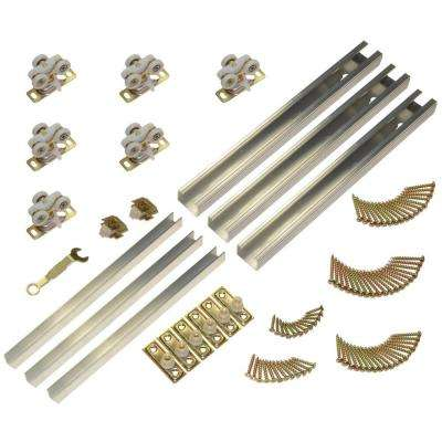 111MD Series 70 in. 3-Door Multi-Slide Hardware Set