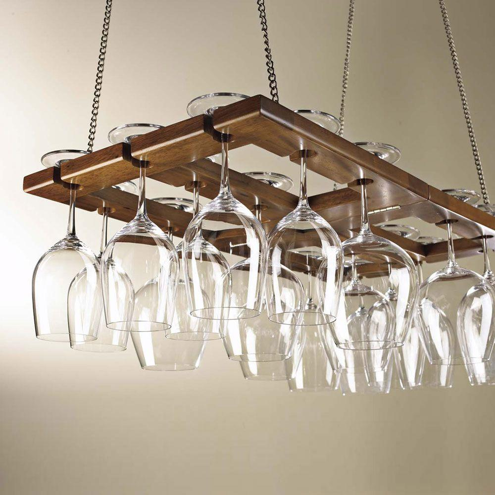 wine enthusiast foldable hanging stemware rack - Hanging Wine Glass Rack