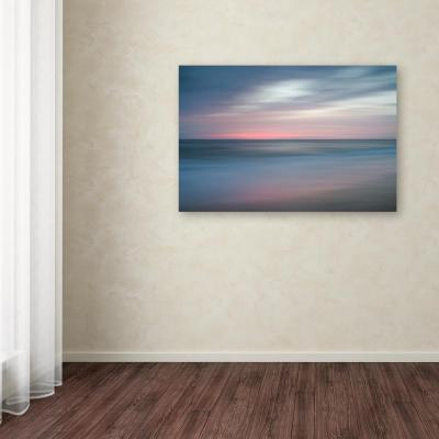 "30 in. x 47 in. ""The Colors of Evening on the Beach"" by PIPA Fine Art Printed Canvas Wall Art"