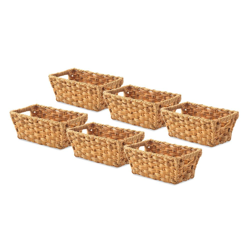 Whitmor 02 gal water hyacinth storage totes set of 6 for Whitmor document boxes set of 5