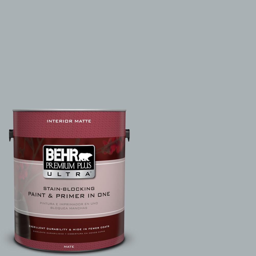 1 gal. #730F-4 Flint Smoke Flat/Matte Interior Paint