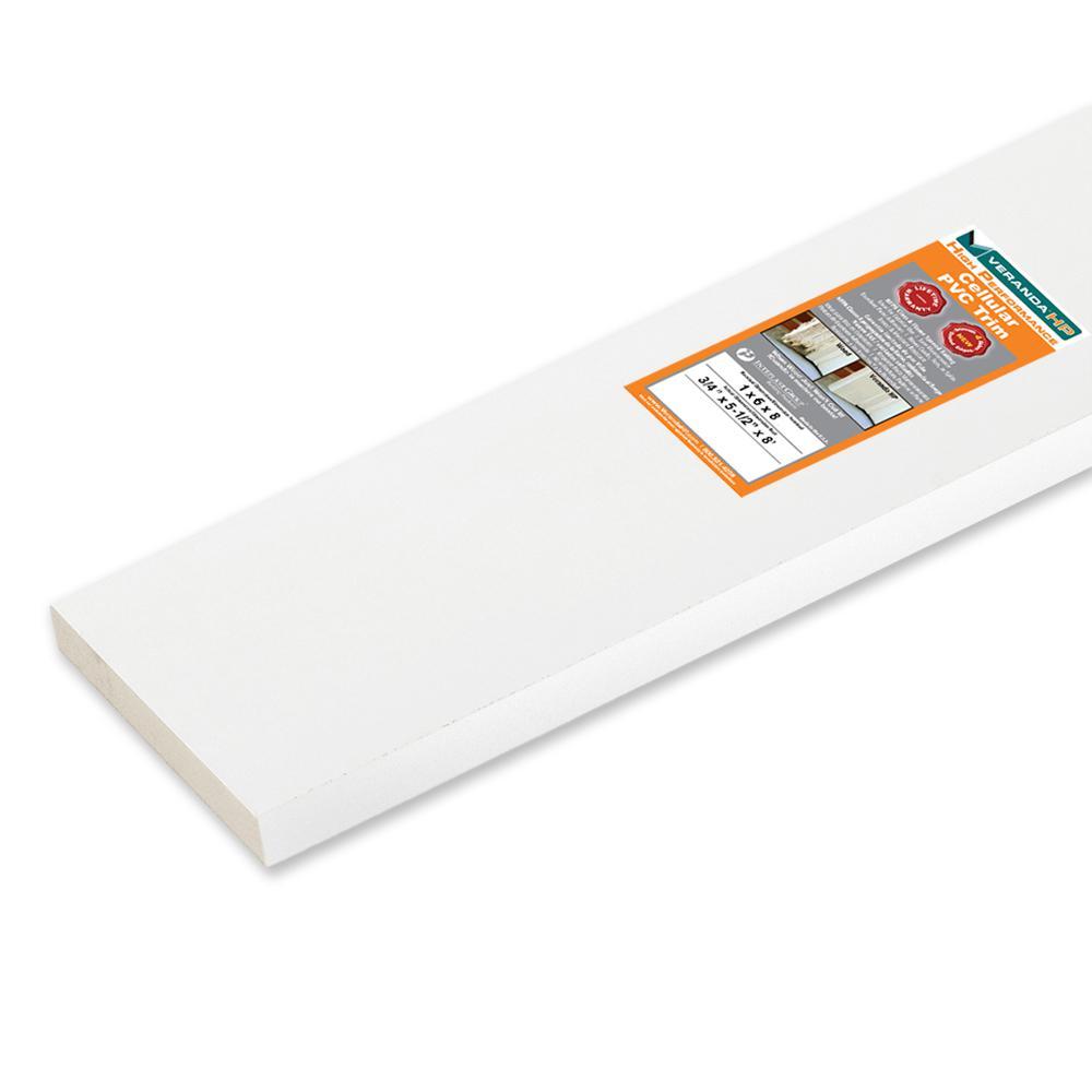 Veranda HP 3/4 in. x 5-1/2 in. x 8 ft. Cellular PVC TRIM