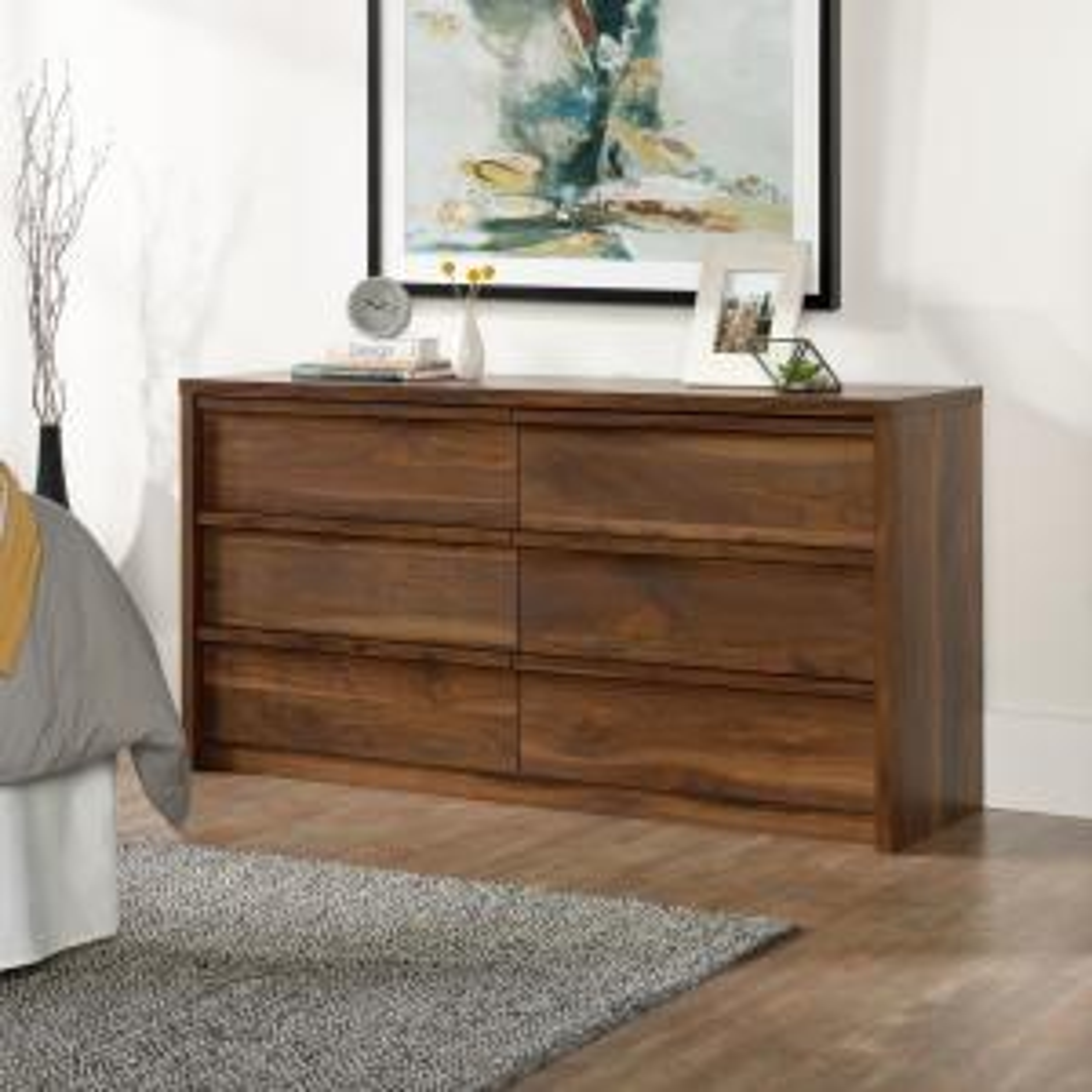 Harvey Park 6-Drawer Grand Walnut Dresser