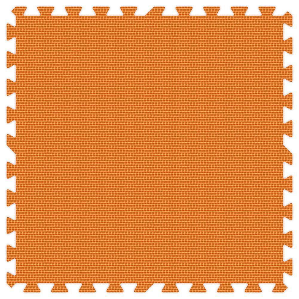 Groovy Mats Orange 24 in. x 24 in. Comfortable Mat (100 sq.ft. / Case)