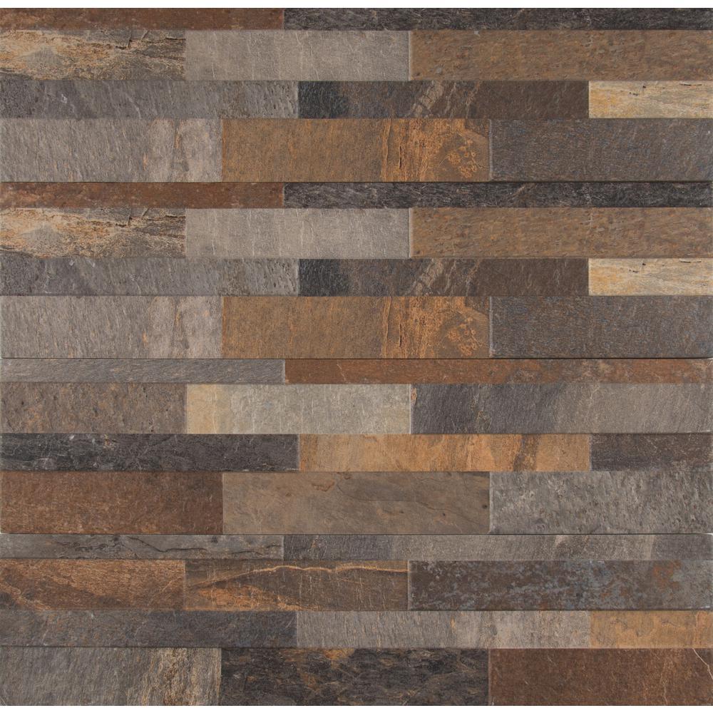 Rocky Gold Ledger Panel 6 in. x 24 in. Matte Porcelain Wall Tile (11 sq. ft. / case)