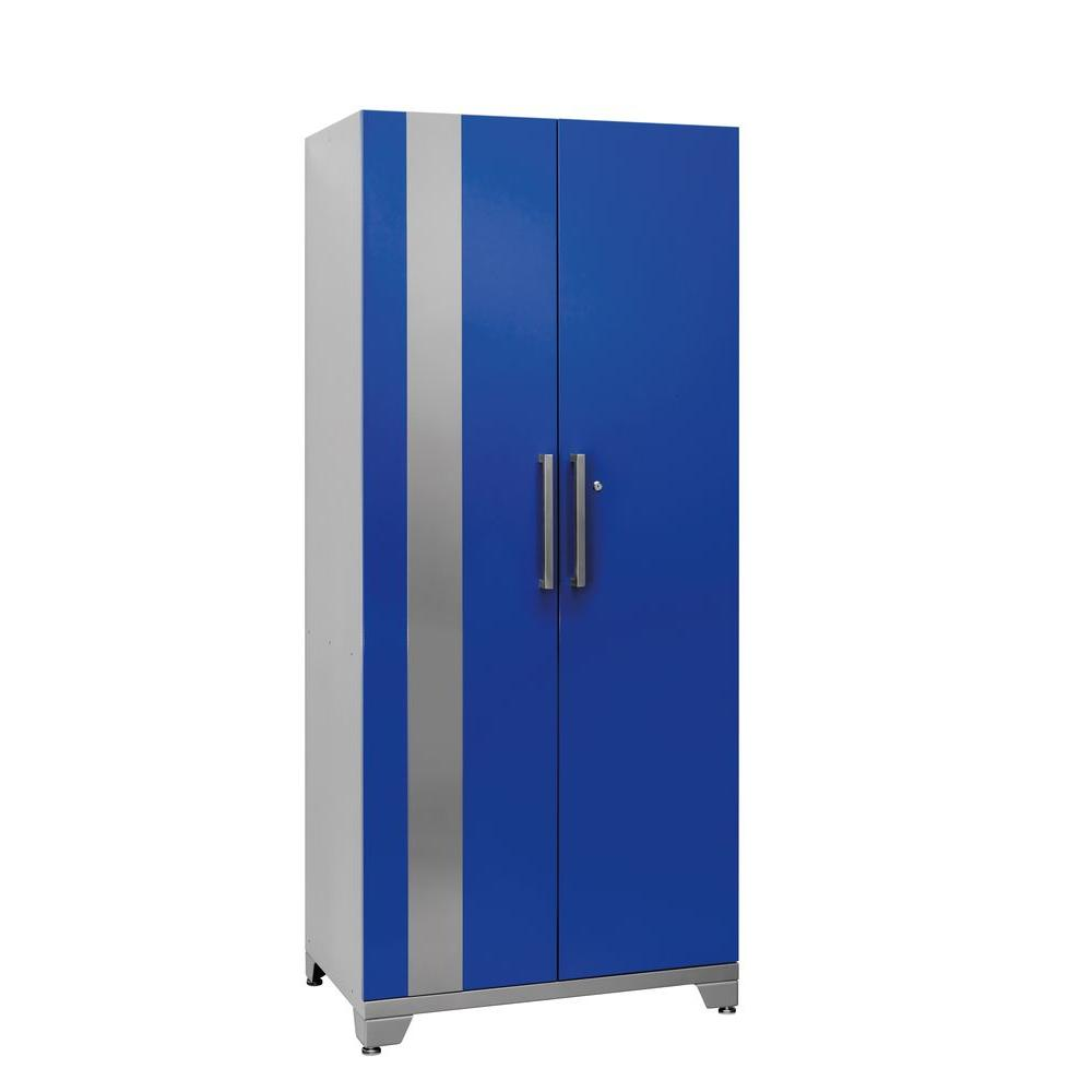 NewAge Products Performance Plus 83 in. H x 36 in. W x 24 in. D 2-Door Steel Garage Cabinet in Blue