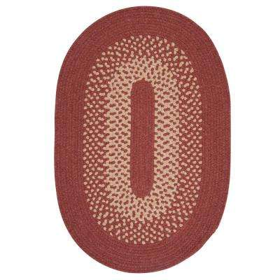 Portland Rosewood 12 ft. x 15 ft. Oval Braided Area Rug