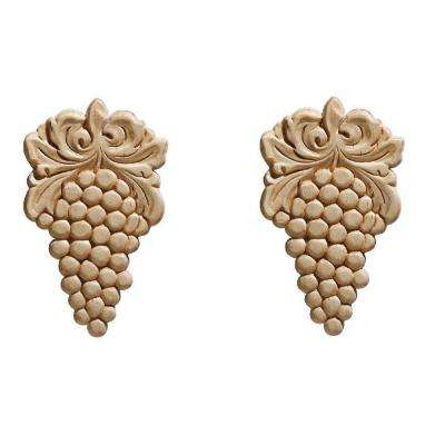 14023PK 9/32 in. x 3-1/4 in. x 5-1/2 in. Wood Birch Grape Ornament Moulding (2-Pack)