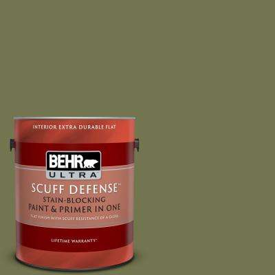 1 gal. #S360-6 Secret Meadow Extra Durable Flat Interior Paint and Primer in One