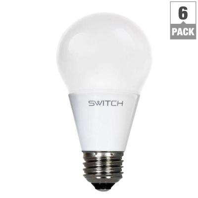 60W Equivalent Soft White  A19 LED Light Bulb (6-Pack)