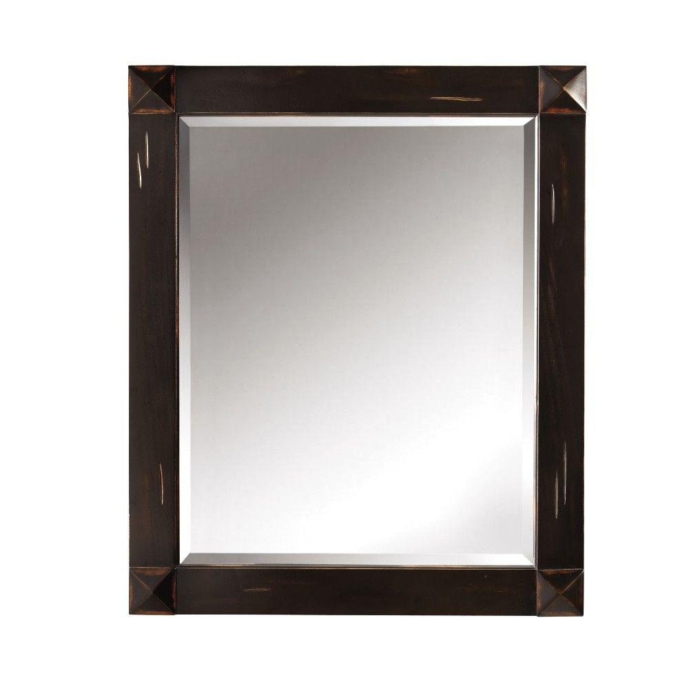 Home Decorators Collection Benton Park 34 in. x 28 in. Framed Wall Mirror in Antique