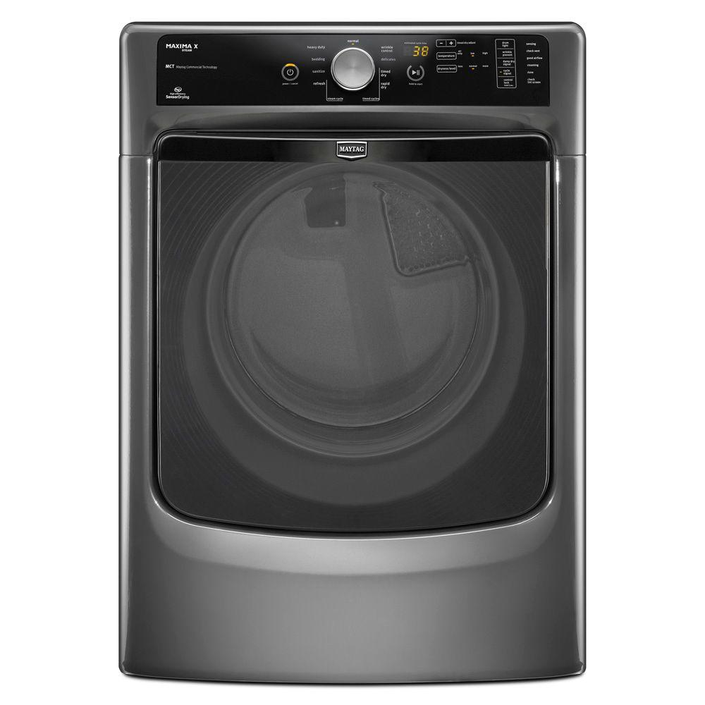 Maytag Maxima X 7.4 cu. ft. Electric Dryer with Steam in Granite-DISCONTINUED