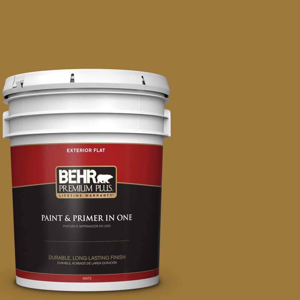 BEHR Premium Plus 5-gal. #M300-7 Persian Gold Flat Exterior Paint