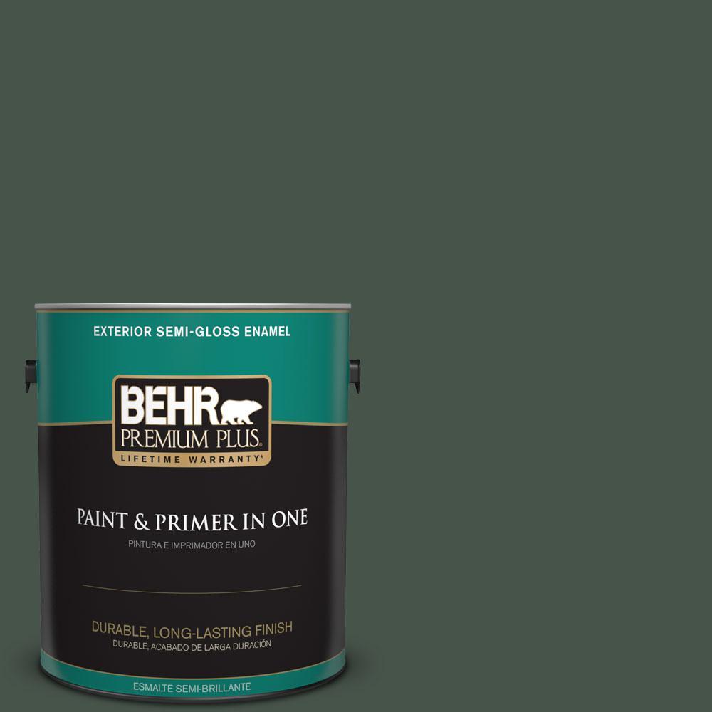 1-gal. #460F-7 Hazel Woods Semi-Gloss Enamel Exterior Paint