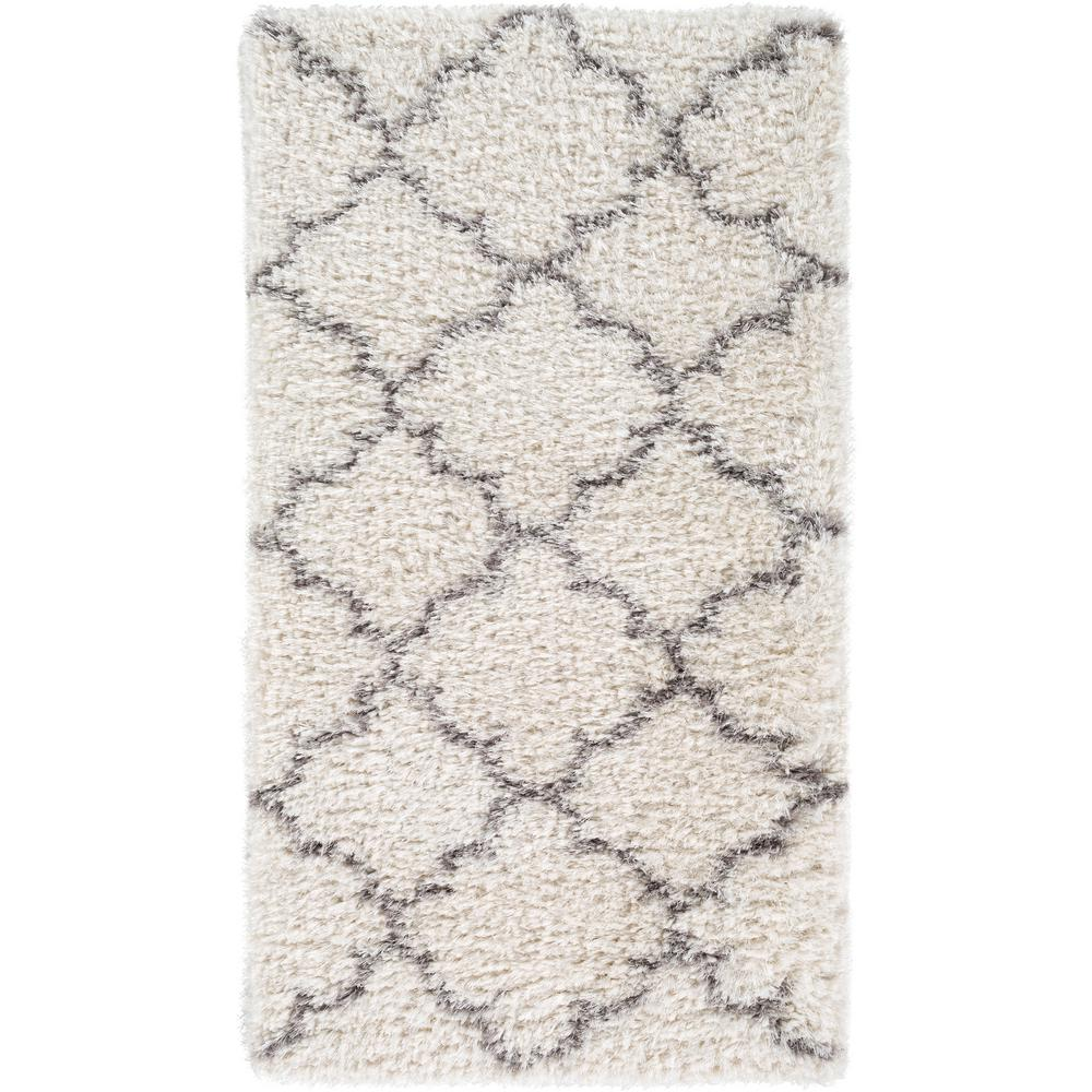 Vitoria White 2 ft. x 4 ft. Indoor Area Rug