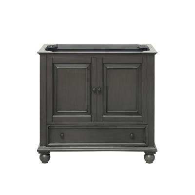 Thompson 36 in. W x 21 in. D x 34 in. H Bath Vanity Cabinet Only in Charcoal Glaze Finish