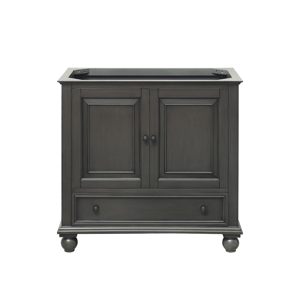 Avanity Thompson 36 In W X 21 In D X 34 In H Bath Vanity Cabinet Only In Charcoal Glaze