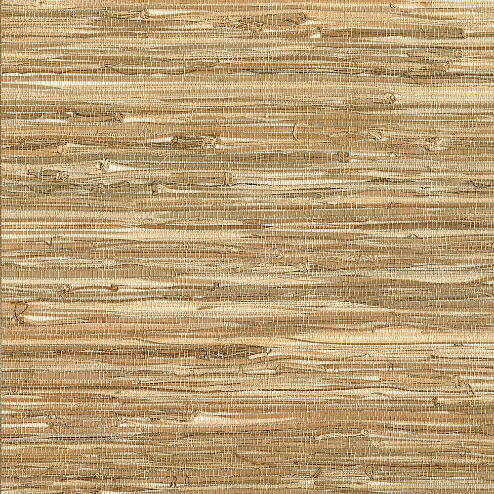 Kenneth James Meho Neutral Grasscloth Wallpaper 2693-65670