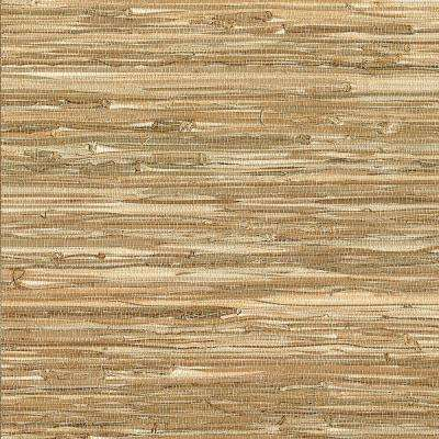 Meho Neutral Grasscloth Wallpaper Sample