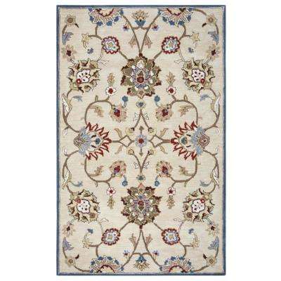 Valintino Beige Hand Tufted Wool 5 ft. x 8 ft. Area Rug