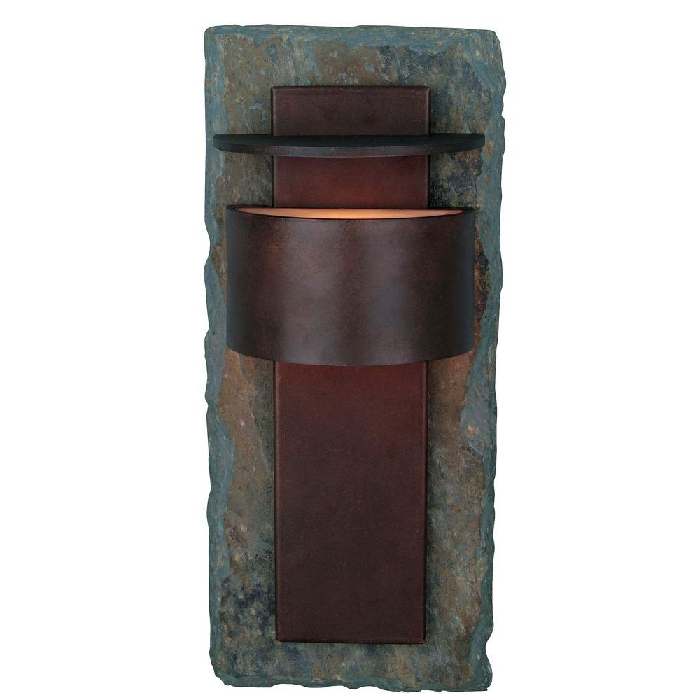 Kenroy Home Pembrooke Slate Outdoor Small Wall-Mount Lantern