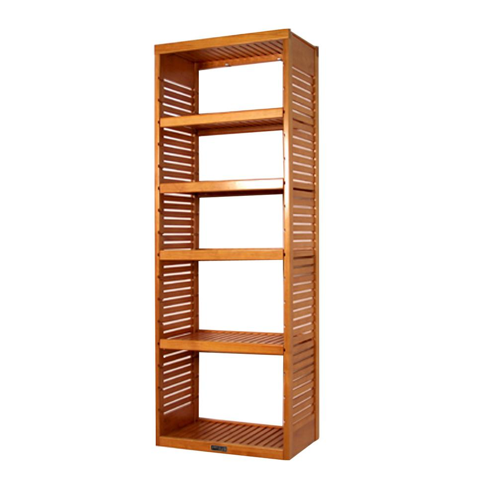16 in. Deep Deluxe Tower Kit with Shelves Honey Maple