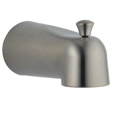 Grail 6 in. Metal Grail Pull-Up Diverter Tub Spout in Stainless