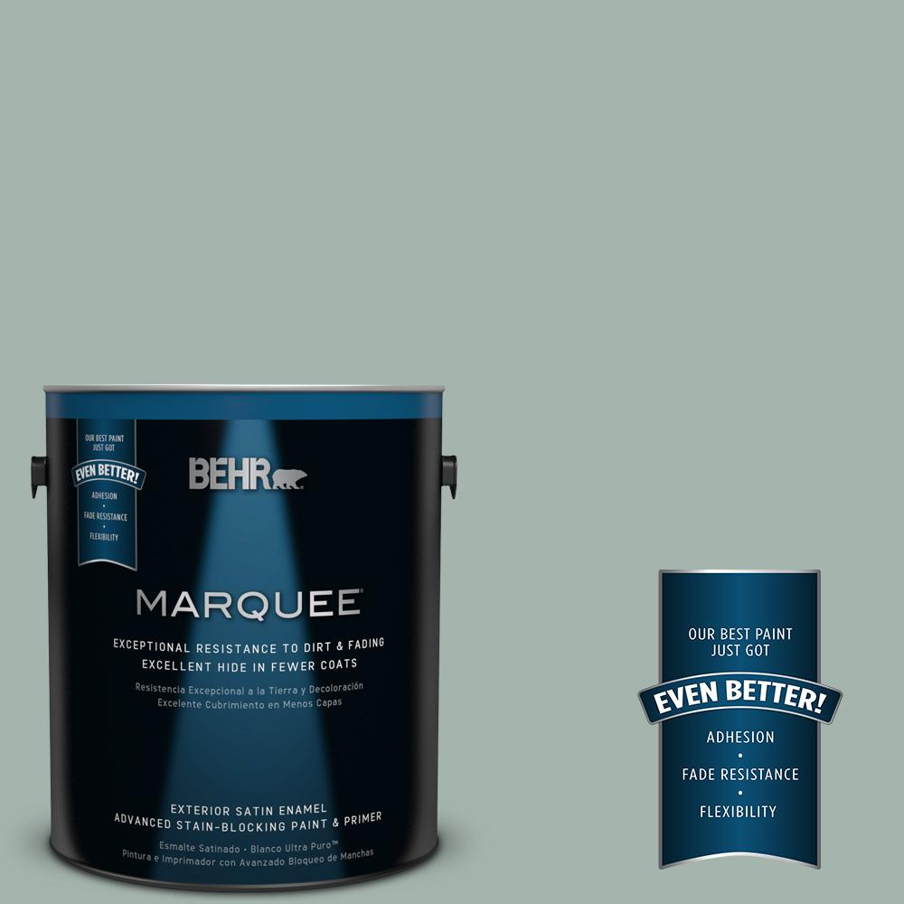 BEHR MARQUEE 1-gal. #460E-3 Smokey Slate Satin Enamel Exterior Paint