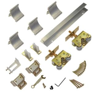 Wall Mounted Sliding Door Hardware johnson hardware 2610f series 72 in. track and hardware set for